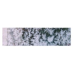 Frosted Winter Texture Satin Scarf (Oblong)