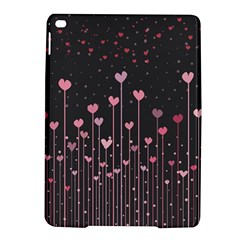 Pink Hearts On Black Background iPad Air 2 Hardshell Cases