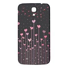Pink Hearts On Black Background Samsung Galaxy Mega I9200 Hardshell Back Case