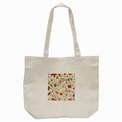 Spring Floral Pattern With Butterflies Tote Bag (Cream)