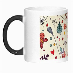 Spring Floral Pattern With Butterflies Morph Mugs