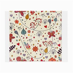 Spring Floral Pattern With Butterflies Small Glasses Cloth (2-Side)