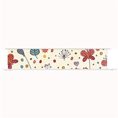 Spring Floral Pattern With Butterflies Small Bar Mats