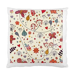 Spring Floral Pattern With Butterflies Standard Cushion Case (One Side)