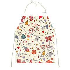 Spring Floral Pattern With Butterflies Full Print Aprons