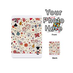 Spring Floral Pattern With Butterflies Playing Cards 54 (Mini)