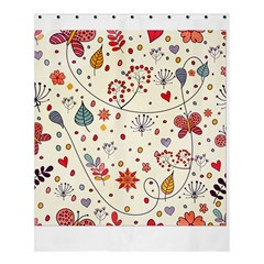 Spring Floral Pattern With Butterflies Shower Curtain 60  x 72  (Medium)