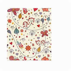 Spring Floral Pattern With Butterflies Small Garden Flag (Two Sides)