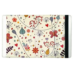 Spring Floral Pattern With Butterflies Apple iPad 3/4 Flip Case