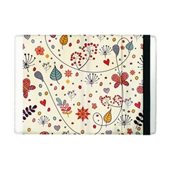 Spring Floral Pattern With Butterflies Apple iPad Mini Flip Case