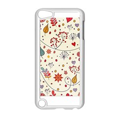 Spring Floral Pattern With Butterflies Apple iPod Touch 5 Case (White)