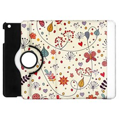 Spring Floral Pattern With Butterflies Apple iPad Mini Flip 360 Case