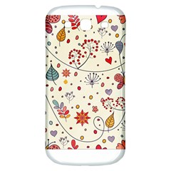 Spring Floral Pattern With Butterflies Samsung Galaxy S3 S III Classic Hardshell Back Case