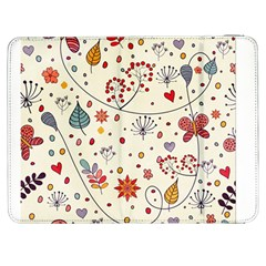 Spring Floral Pattern With Butterflies Samsung Galaxy Tab 7  P1000 Flip Case