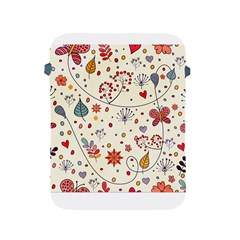 Spring Floral Pattern With Butterflies Apple iPad 2/3/4 Protective Soft Cases