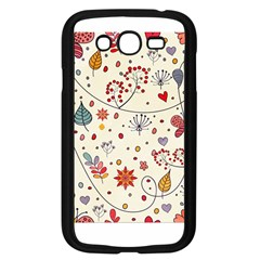Spring Floral Pattern With Butterflies Samsung Galaxy Grand DUOS I9082 Case (Black)