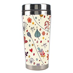 Spring Floral Pattern With Butterflies Stainless Steel Travel Tumblers