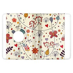 Spring Floral Pattern With Butterflies Kindle Fire HDX Flip 360 Case