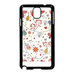 Spring Floral Pattern With Butterflies Samsung Galaxy Note 3 Neo Hardshell Case (Black)