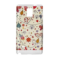 Spring Floral Pattern With Butterflies Samsung Galaxy Note 4 Hardshell Case