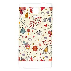 Spring Floral Pattern With Butterflies Galaxy Note 4 Back Case