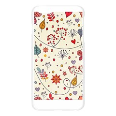 Spring Floral Pattern With Butterflies Apple Seamless iPhone 6 Plus/6S Plus Case (Transparent)