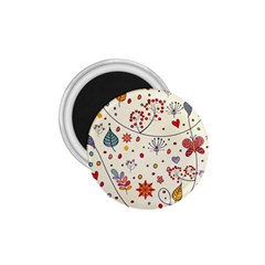 Spring Floral Pattern With Butterflies 1.75  Magnets