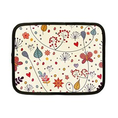 Spring Floral Pattern With Butterflies Netbook Case (Small)