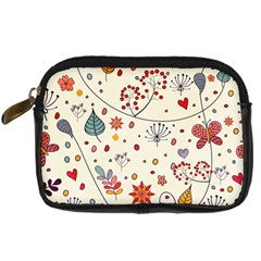 Spring Floral Pattern With Butterflies Digital Camera Cases