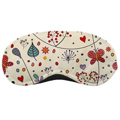 Spring Floral Pattern With Butterflies Sleeping Masks