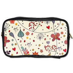 Spring Floral Pattern With Butterflies Toiletries Bags 2-Side
