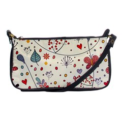 Spring Floral Pattern With Butterflies Shoulder Clutch Bags