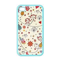 Spring Floral Pattern With Butterflies Apple iPhone 4 Case (Color)