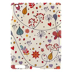 Spring Floral Pattern With Butterflies Apple iPad 3/4 Hardshell Case
