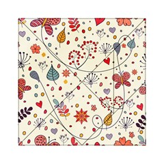 Spring Floral Pattern With Butterflies Acrylic Tangram Puzzle (6  x 6 )