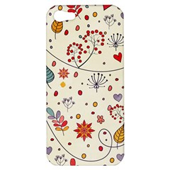 Spring Floral Pattern With Butterflies Apple iPhone 5 Hardshell Case