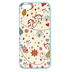 Spring Floral Pattern With Butterflies Apple Seamless iPhone 5 Case (Color)