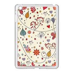Spring Floral Pattern With Butterflies Apple iPad Mini Case (White)