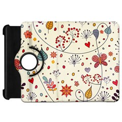 Spring Floral Pattern With Butterflies Kindle Fire HD 7