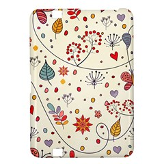 Spring Floral Pattern With Butterflies Kindle Fire HD 8.9