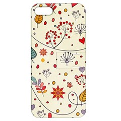 Spring Floral Pattern With Butterflies Apple iPhone 5 Hardshell Case with Stand