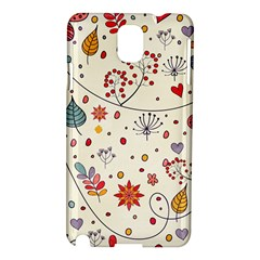 Spring Floral Pattern With Butterflies Samsung Galaxy Note 3 N9005 Hardshell Case