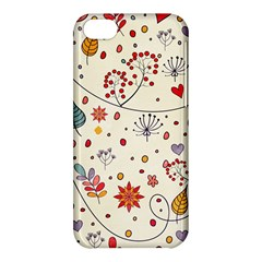 Spring Floral Pattern With Butterflies Apple iPhone 5C Hardshell Case