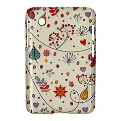 Spring Floral Pattern With Butterflies Samsung Galaxy Tab 2 (7 ) P3100 Hardshell Case
