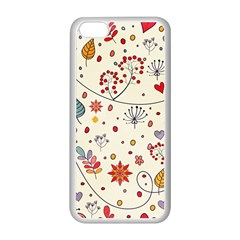 Spring Floral Pattern With Butterflies Apple iPhone 5C Seamless Case (White)
