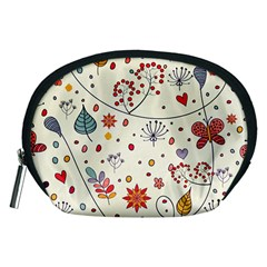 Spring Floral Pattern With Butterflies Accessory Pouches (Medium)