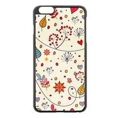 Spring Floral Pattern With Butterflies Apple iPhone 6 Plus/6S Plus Black Enamel Case