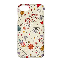 Spring Floral Pattern With Butterflies Apple Iphone 7 Hardshell Case