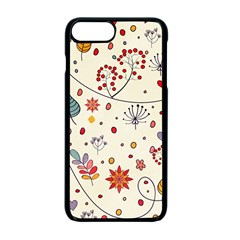 Spring Floral Pattern With Butterflies Apple Iphone 7 Plus Seamless Case (black)