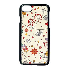 Spring Floral Pattern With Butterflies Apple Iphone 7 Seamless Case (black)
